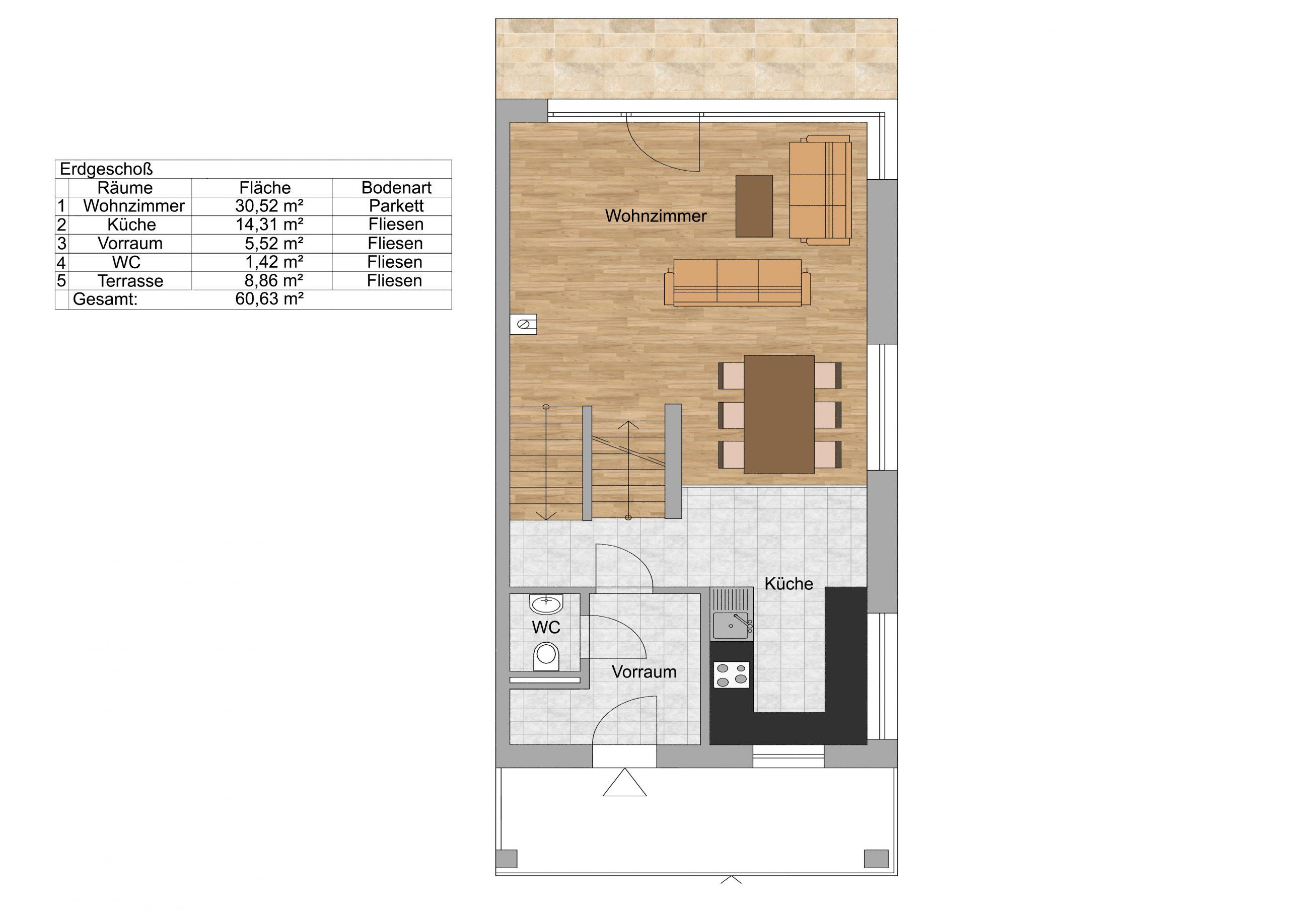 Erdgeschoss Skizzenplan