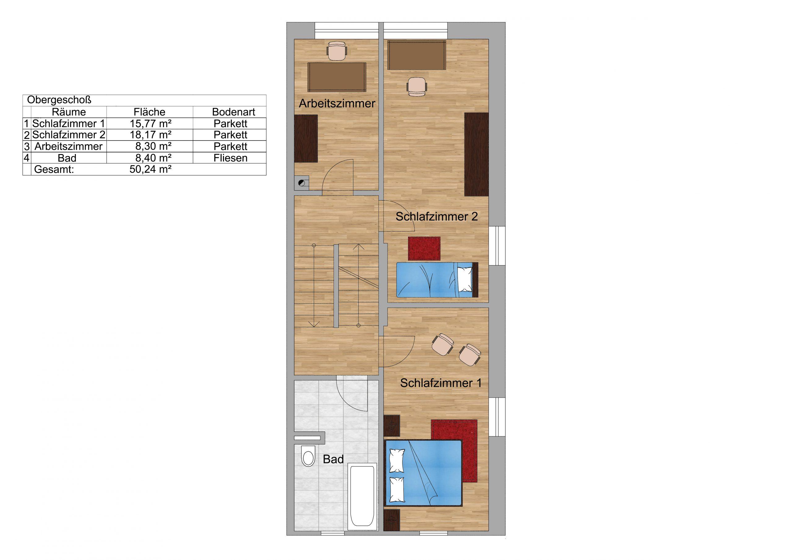 Obergeschoss Skizzenplan